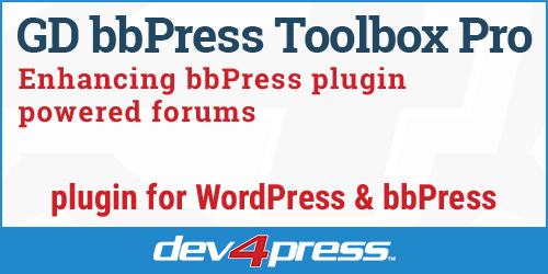GD bbPress Toolbox Pro - Enhancing WordPress forums powered by bbPress