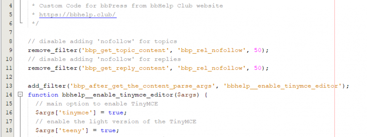How to add custom code from the bbHelp Club Answers